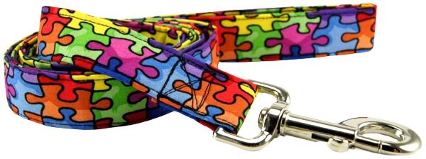 K9 Bytes Autism Awareness Puzzle Cat Collar