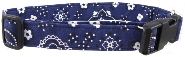 Dark Blue Bandana Dog Collar