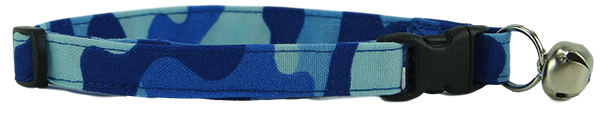 Blue Camo Cat Collar