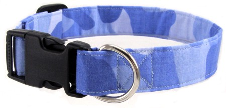 Light Blue Camo Dog and Cat Collars