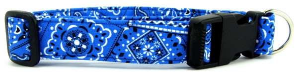 Bright Blue Bandana Dog Collar