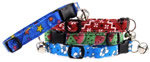 Cat collars, handmade cat collars, holiday cat collars