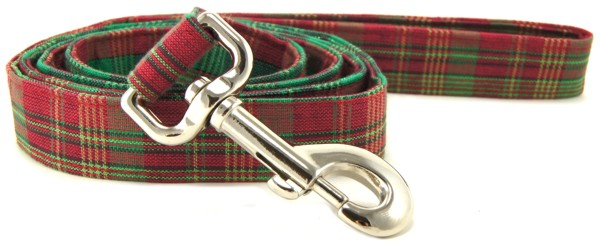 Christmas Plaid Dog Leash