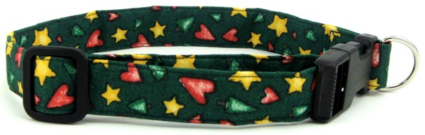 Country Trees, Stars & Hearts Dog Collar