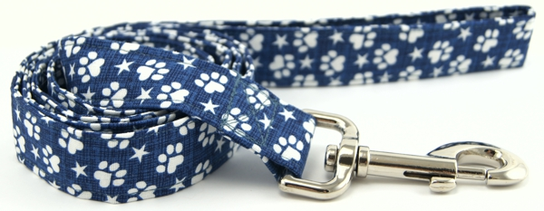 Denim Paws & Stars Dog Leash
