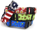 Dog collars, handmade dog collars, holiday dog collars