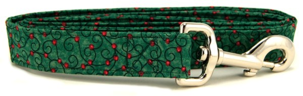 Green Swirled Berries Dog Leash