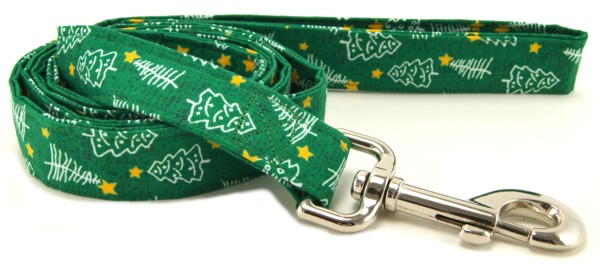 Green Christmas Trees Dog Leash