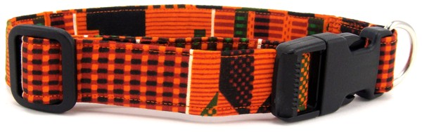 African Kente Print Dog Collar