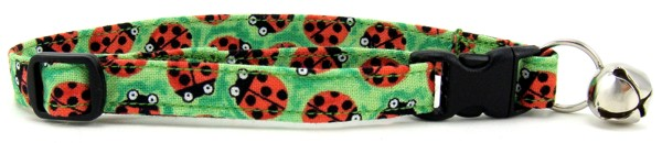 Lady Bugs Cat Collar