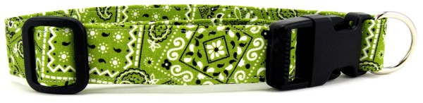 Lime Green Bandana Dog Collar