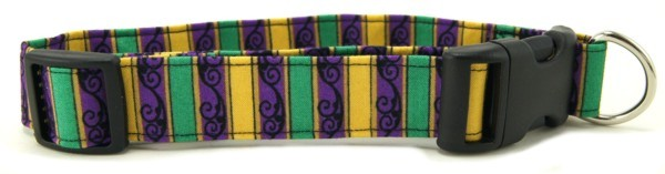 Mardi Gras Flourish Dog Collar