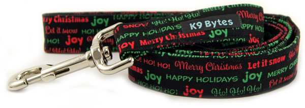 Christmas Greetings Dog Leash