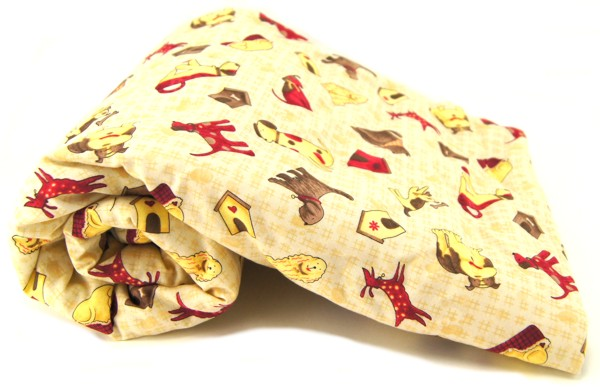 Tan Dogs With Dog Houses Pet Blanket