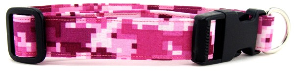 Digital Pink Camo Dog Collar