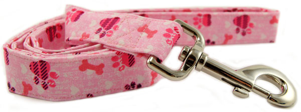 Pink Plaid Paws Dog Leash