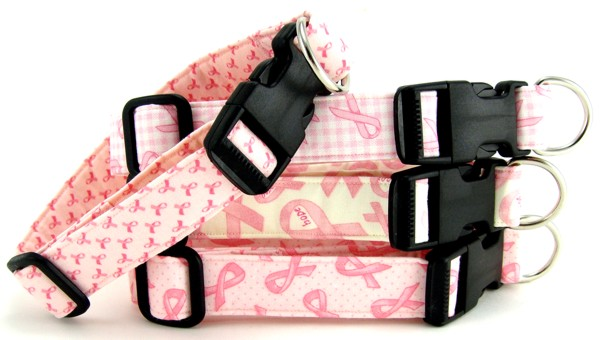 Pink Ribbon Breast Cancer Awareness Dog and Cat Collars