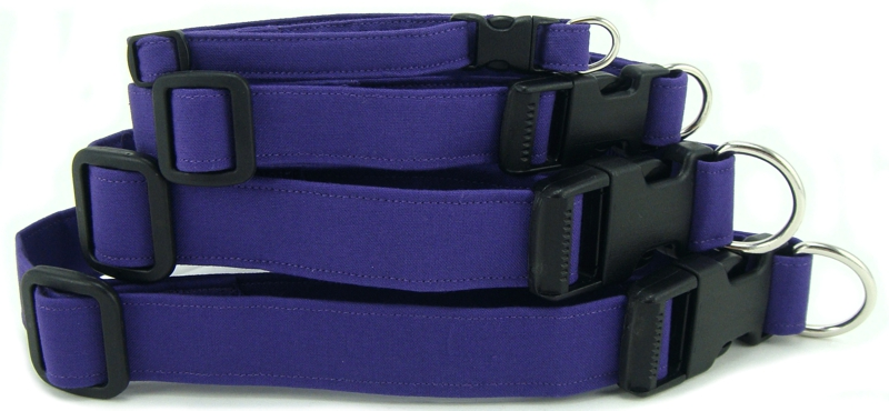 Purple Dog Collars, Cat Collars and Dog Leashes