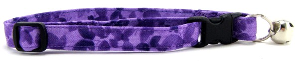 Purple Butterflies Cat Collar