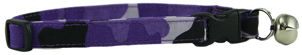 Purple Camo Cat Collar