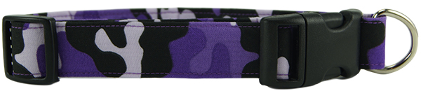 Purple Camo Dog Collar