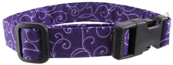 Purple Swirl Dog Collar