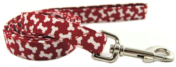 Red Bones Dog Leash