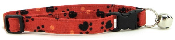 Red Heart Paws Cat Collar