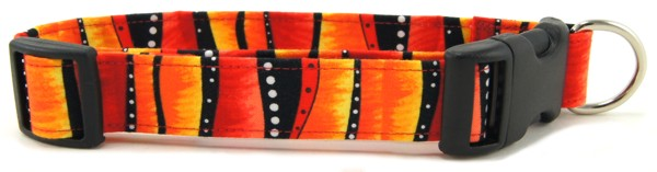 Red Hot Stripes Dog Collar