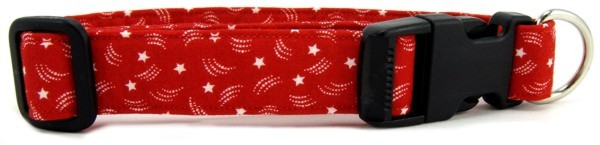 Red Stars Dog Collar