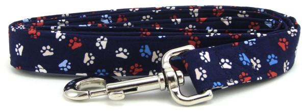 Red, White and Blue Paws Dog Leash