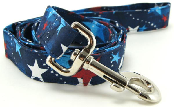 Red White Blue Shooting Stars Dog Leash