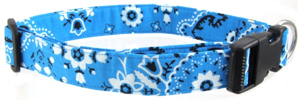 Teal Bandana Dog Collar