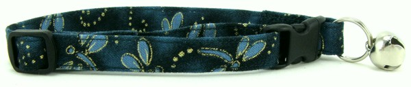 Teal Dragonflies Cat Collar