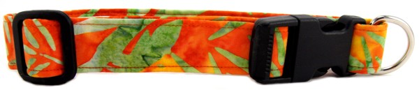 Tropical Batik Dog Collar