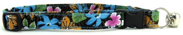 Tropical Flowers Cat Collar