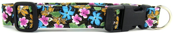 Tropical Flowers Dog Collar