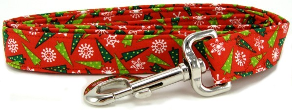 Wacky Christmas Trees Dog Leash