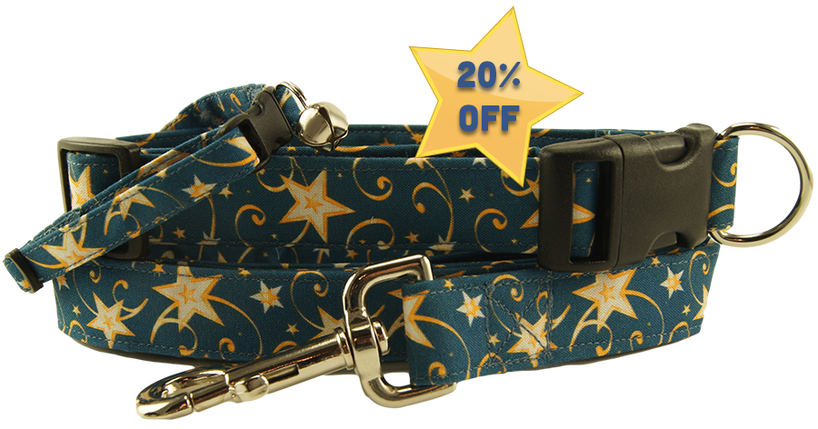 Whirled Stars Dog Collars - Dog Leashes - Cat Collars