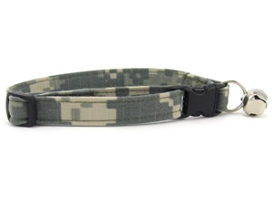 Digital Camouflage Cat Collars