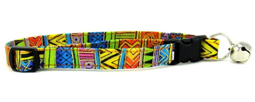 Stars, Stripes, Batik and Shapes Cat Collars