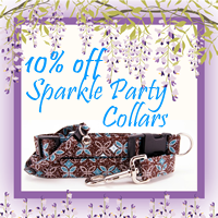 Sparkle Party Dog Collars and Cat Collars 10% off